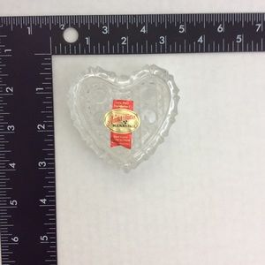 Vintage Accents - Vintage Crystal Heart Trinket Box Made W Germany